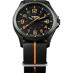 Traser® P67 Officer Pro Gun Metal NATO, BLACK/ORANGE