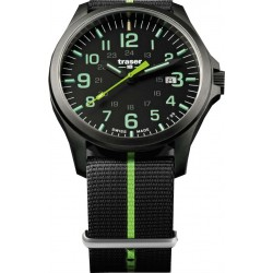 Traser® P67 Officer Pro Gun Metal NATO, JUODA/LIME