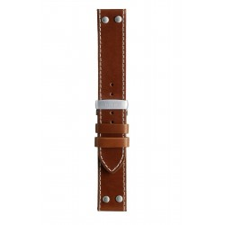 T5 Aviator leather watch strap, BROWN