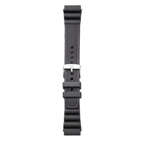 Traser® H3 black rubber watch strap, BLACK