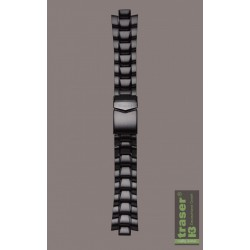 Traser® H3 PVD plated steel watch strap for Professional Commander 100 Pro, 18 mm