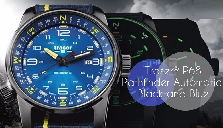 Traser® P68 Pathfinder Automatic Blue ir Black